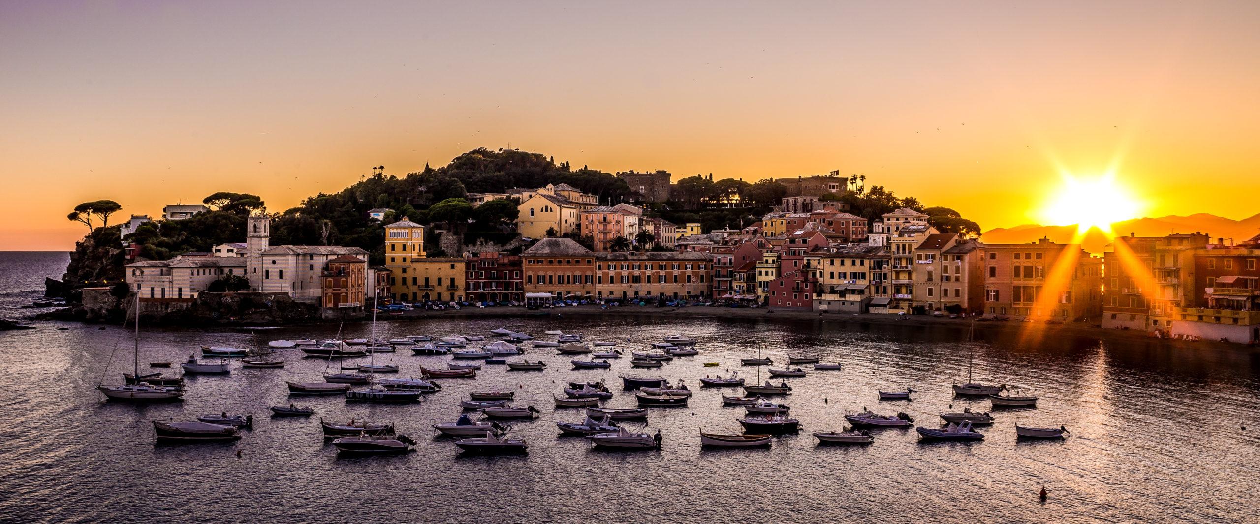 Baia del silenzio a Sestri Levante, liguria Italia
